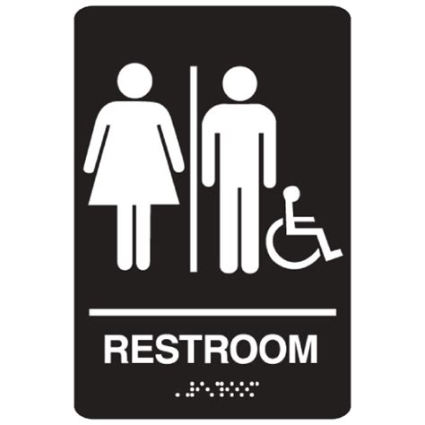 what is a unisex bathroom handicap accessible unisex bathroom braille sign