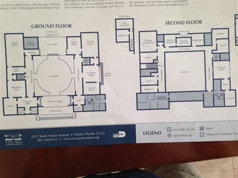 vizcaya floor plan interior map picture of vizcaya museum and gardens