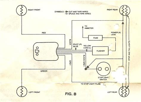 signal stat 900 universal turn switch wiring diagram universal turn signal parts diagram