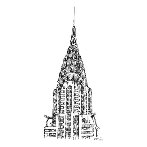 Chrysler Building Drawing by Pin Chrysler Building Drawing Poster Print Pictures On