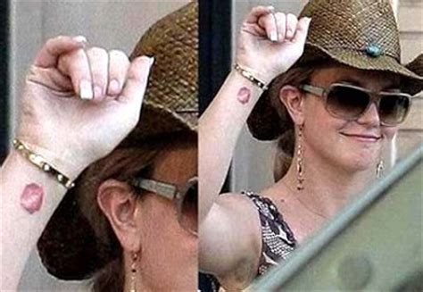 britney spears wrist tattoo new november 2009