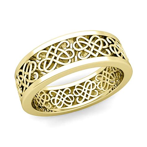 custom celtic knot wedding band ring for and