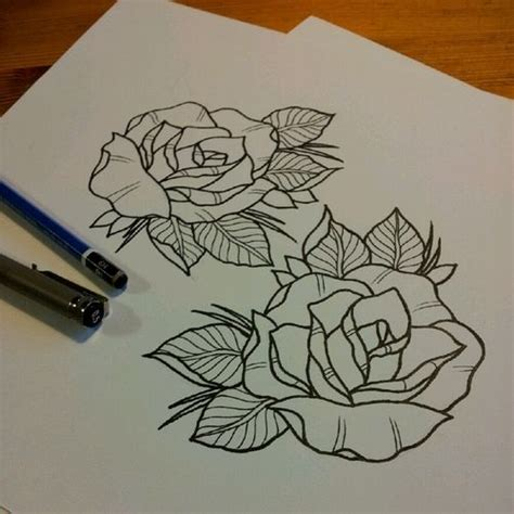 rose tattoos outline 1000 ideas about outline on tattoos