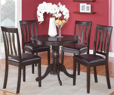 36 Dining Table And Chairs 5pc Antique Kitchen 36 Quot Table And 4 Chairs With Faux