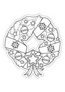 19918 4 corona de navidad para recortar dibujo para colorear e