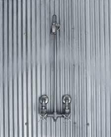 corrugated sheet metal for shower walls bathroom ideas