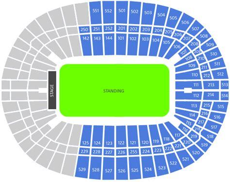 Floor Plan O2 Arena London by Biglietti Per Rihanna At Wembley Stadion Ticmate It
