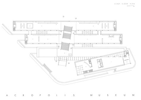 new museum floor plan second and third floor plans acropolis museum
