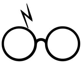 Harry Potter Lightning Scar Emoji Harry Potter Decal Glasses With Lightning Bolt Scar
