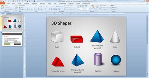 Free 3d Shapes Template For Powerpoint Free Powerpoint Free Powerpoint Shapes