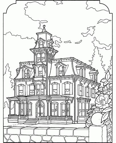 spring house coloring pages victorian house coloring page coloring home