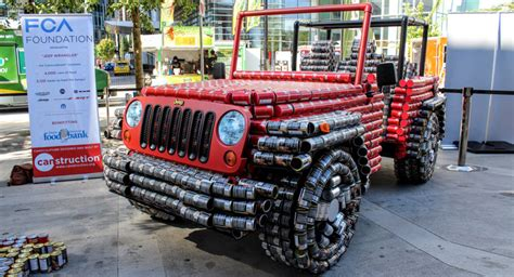 jeep wrangler made this jeep wrangler is made almost entirely out of food