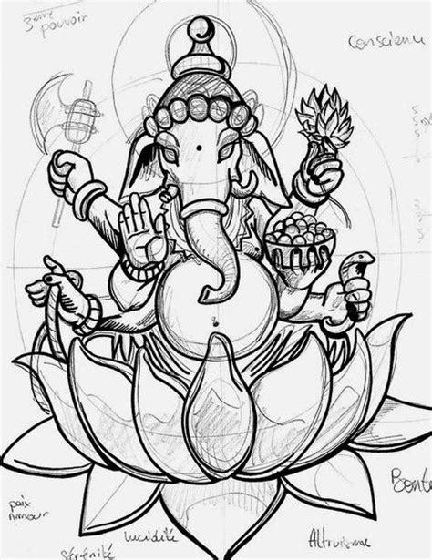 tattoo ganesh sketch 416 best ganesha lovers images on pinterest lord