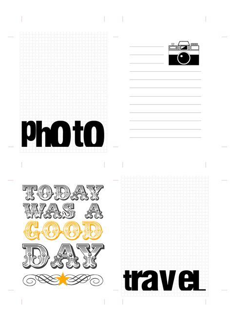 printable travel journal cards 8 best images of printable scrapbook freebies free