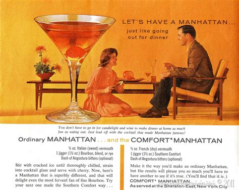 what goes with southern comfort how to make a southern comfort manhattan