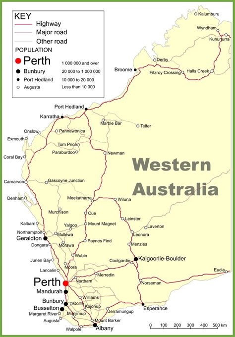 Search In Australia Detailed Map Western Australia Images
