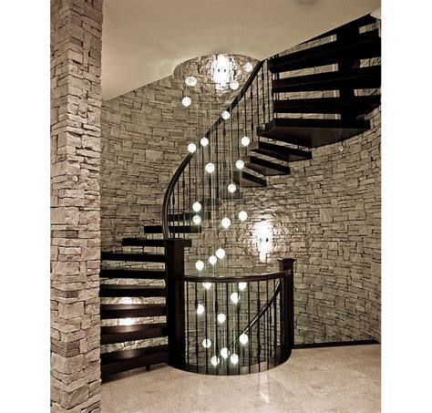 staircase hanging lights spiral staircase with landing and hanging lights design