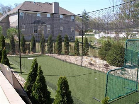 Backyard Batting Cage Traditional Landscape St Louis By Sport Court St Louis