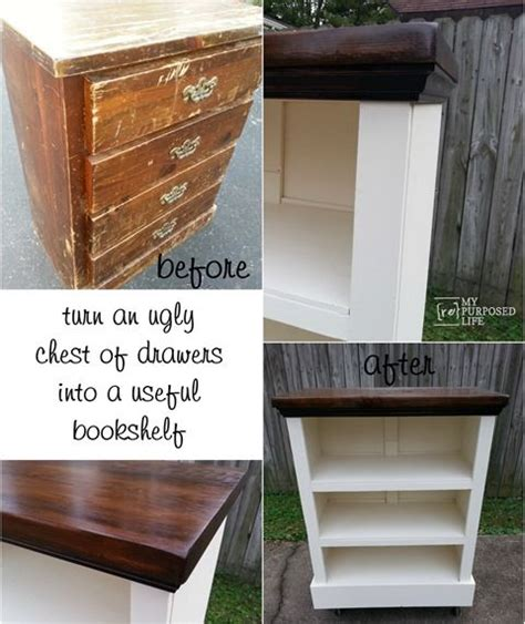 How To Make A Dresser Into A Bookshelf by Repurposed Change Up An Chest Of Drawers Or