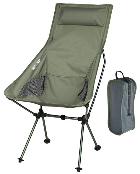 Portable Folding High Chair - marchway lightweight portable folding high back cing