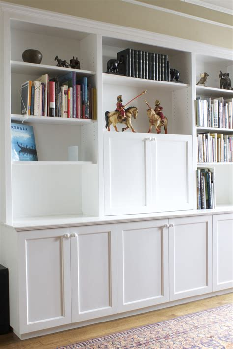 custom built in 57th street bookcase cabinet
