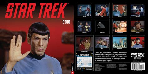 star trek official 2018 2018 calendar september quotes month printable calendar 2018 2019