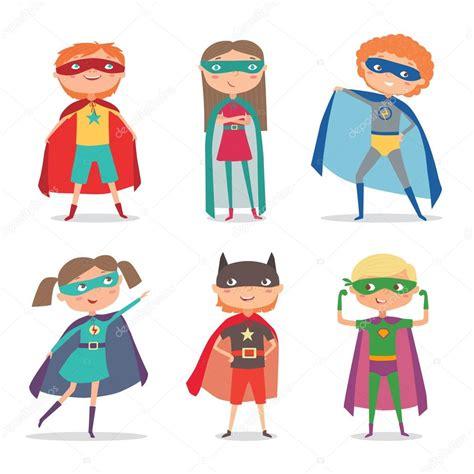 imagenes superheroes vectores ni 241 os de superheroes vector ilustraci 243 n de dibujos