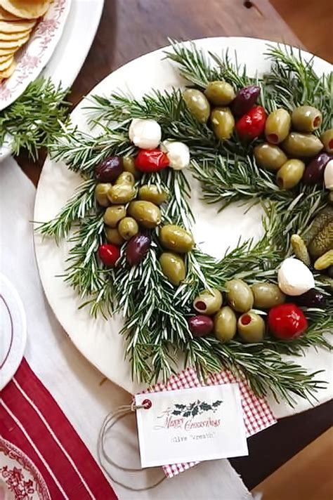 christmas wreath appetizers vegan salad way to be happy