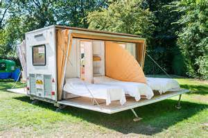 Truck Camper Awnings Incredible De Markies Trailer Folds Out To Triple Its Size