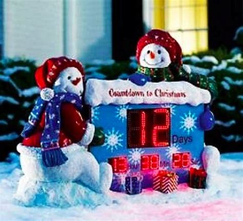 countdown to christmas snowman lighted digital clock yard decor outdoor countdown clock 2017 best template idea