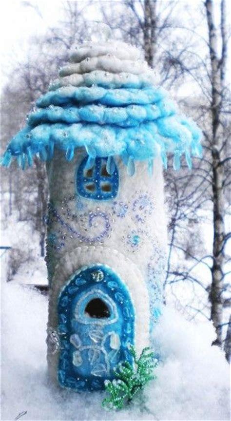 winter houses felt fairy fairies and fairy houses on pinterest