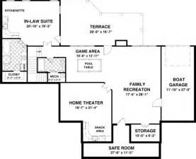 basement home floor plans featured house plan pbh 1169 professional builder