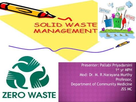 Solid Waste Management Ppt Waste Management Powerpoint Template