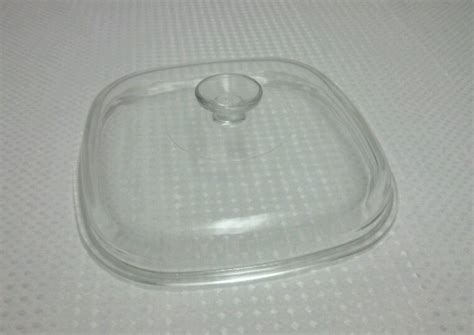 pyrex glass replacement lid 10 quot square clear corning ware