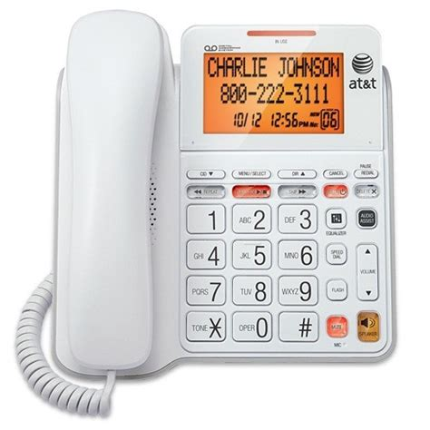 Att Call Lookup Cl4940 White At T 174 Telephone Store