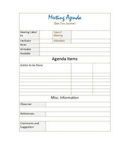 meeting template agenda 46 effective meeting agenda templates template lab