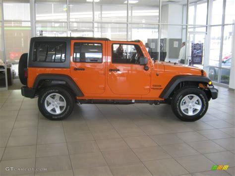 orange jeep wrangler unlimited 2012 crush orange jeep wrangler unlimited sport s 4x4