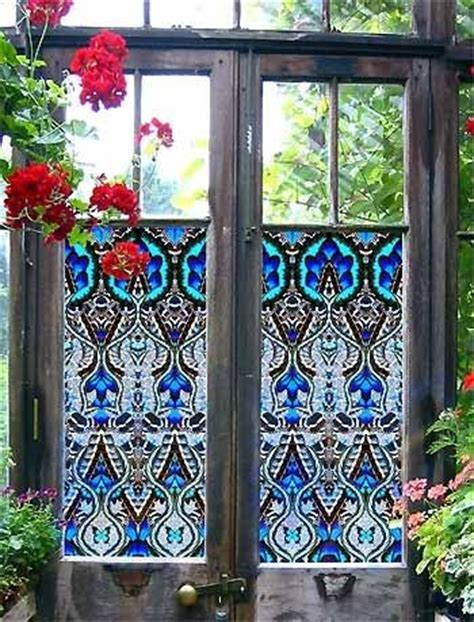 stained glass stickers for doors 25 best ideas about window privacy on curtain
