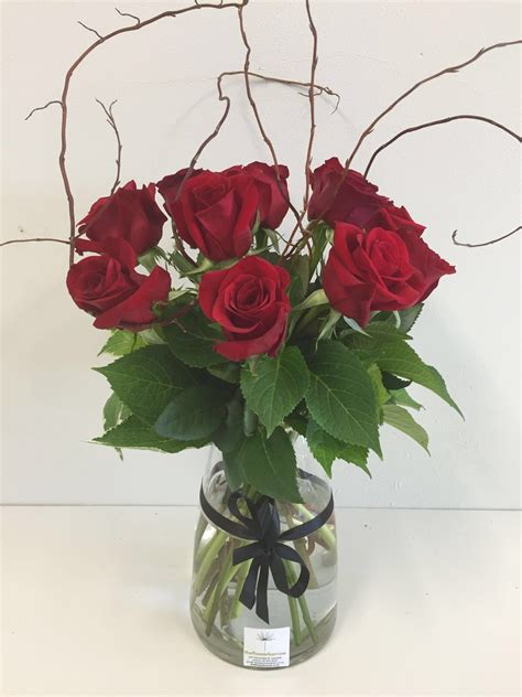 Vase With Roses by Roses Vase The Flower Barrow