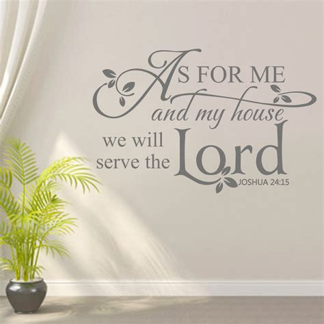 as for me and my house verse aliexpress com buy as for me and my house we will serve the lord vinyl bible verse
