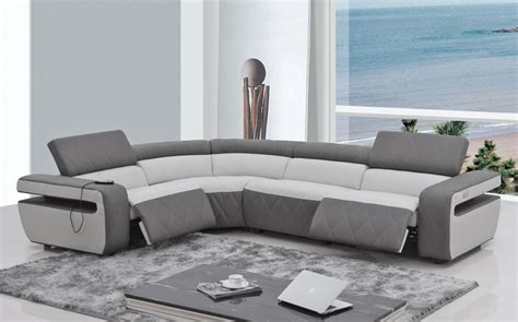 Modern Sectional Sofa Recliner Contemporary Reclining Sectional Sofa
