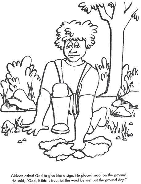 Coloring Page Gideon by Bible Coloring Pages God Chooses Gideon Bible Class