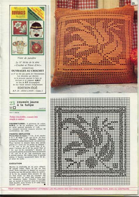 schemi cuscini uncinetto cuscino con tulipano schema filet uncinetto magiedifilo