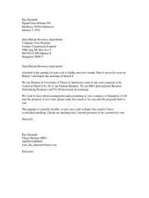 company visit letter