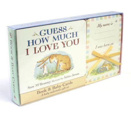 How Much Left On Gift Card - guess how much i love you baby milestone moments board book and cards gift set