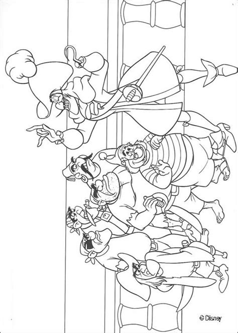Captain Hook And The Pirates Coloring Pages Hellokids Com Captain Hook Coloring Pages