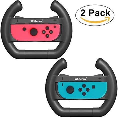 New Nintendo Switch Con Wheel Set Of 2 Aif612 1 whiteoak con wheel upgraded version set of 2 accessories kit attachments steering wheel