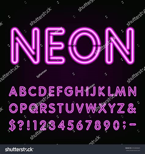 how to make 3d neon light typography purple neon light alphabet font neon effect letters
