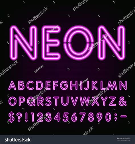 printable neon letters purple neon light alphabet font neon effect letters