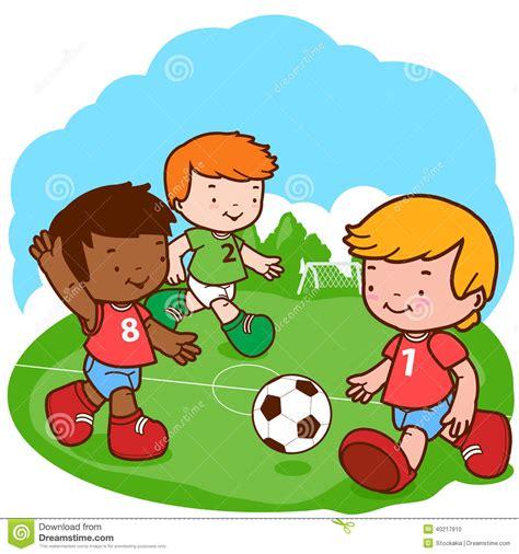 imagenes de niños jugando hd ni 241 os del f 250 tbol ilustraci 243 n del vector imagen 40217910
